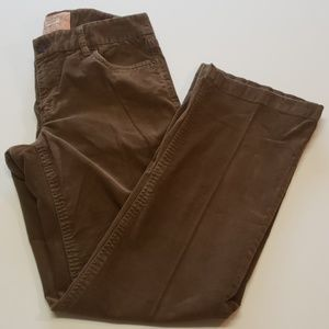 J. Crew Brown Bootcut Corduroy Pants